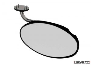 Custom manufacturing of oval interior rear view mirrors for buses