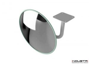 Round interior rear view mirrors for lorries