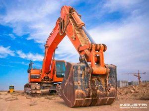Rear view mirrors for excavators