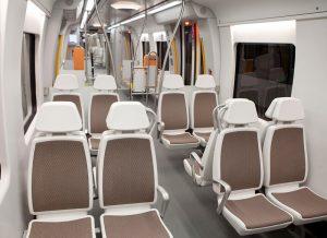 Interior de los trenes que cubren la Línea 3 de Metro Bilbao