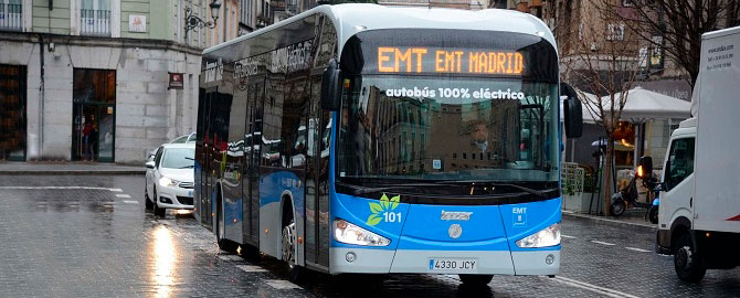 El autobús eléctrico de Irizar se prueba en Madrid