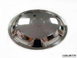 Custom manufacturing of kiruna hubcaps for buses